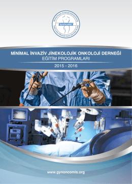 minimal invaziv jinekolojik onkoloji derneği eğitim programları 2015