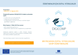 DIGICOM print TR - Digital Competences for Teachers