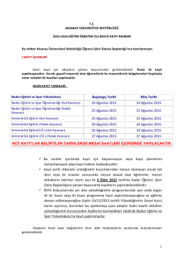 BESYO Kayıt İşlemleri Rehberi - Aksaray Üniversitesi | Öğrenci İşleri