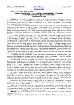 29361 Orman Kanununun 17-3 ve 18 İnci Maddelerinin Uygulama