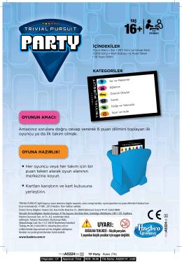 Trivial Pursuit Party Instructions