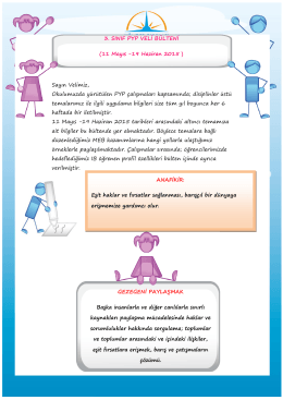 3_Sinif_PYP_Bulteni_11_Mayis