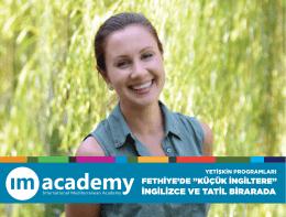 YETİŞKİN PROGRAMLARI - International Mediterranean Academy