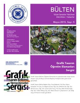 5. Sayı Mayıs - İstanbul Aydın Üniversitesi – Güzel Sanatlar Fakültesi