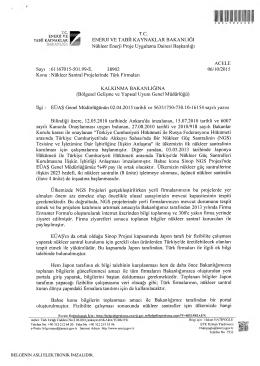 T.c mm* Nükleer Enerji Proje Uygulama Dairesi Başkanlığı ACELE