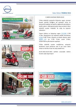 Temmuz E-Bülten - Uğur Motorlu Araçlar