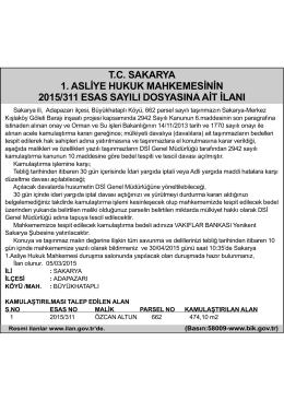 tc sakarya 1. asliye hukuk mahkemesinin 2015/311 esas sayılı