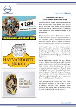 Ekim E-Bülten - Uğur Mondial