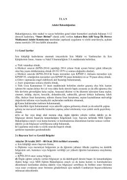 İ L A N - euygulama.dpb.gov.tr