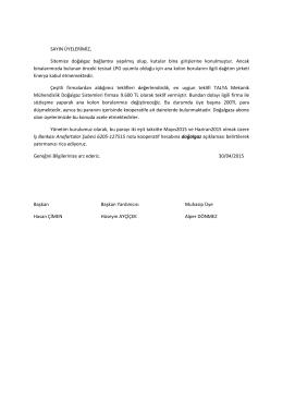 Doğalgaz Ana Kolon Tesisat Ödemesi Hk.