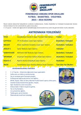 FBSporOkullariTanitim - Fenerbahçe Spor Okulu