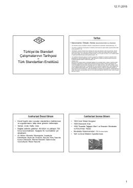 TSE ve Diğer Standart Kuruluşları