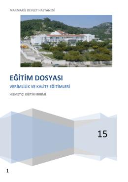 eğitim dosyası - Marmaris Devlet Hastanesi