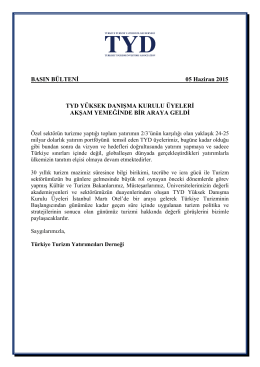 05.06.2015 TYD Basın Bülteni