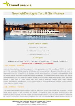 Gronne&Dordogne Turu 8 Gün