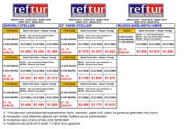 2015-2016 Umre Fiyatları (Aralık-Ocak-Şubat-Mart