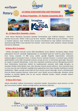 Kore Konvansiyonu Programı, Katılım Koşulları ve Katılım Formu