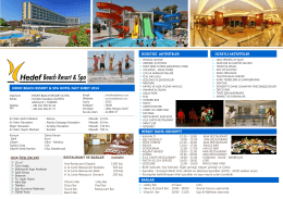 bEACH factsheet - Hedef Beach Resort & Spa Hotels