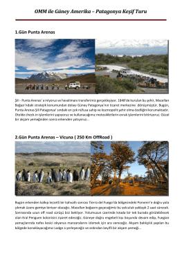 OMM ile Güney Amerika– Patagonya Keşif Turu