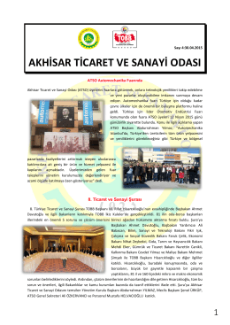nisan ebülten - Akhisar Ticaret ve Sanayi Odası