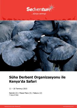 Süha Derbent Organizasyonu ile Kenya`da Safari