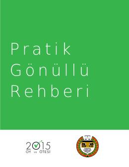YENİ - Pratik Gönüllü Rehberi 2015