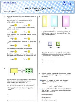 7. Sınıf 12. Haftasonu Çalışma Ödevi