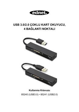 USB 3.0/2.0 ÇOKLU KART OKUYUCU, 4 BAĞLANTI NOKTALI