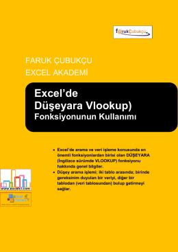 Excel`de Düşeyara Vlookup)
