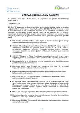 Marka/Logo Kullanım Talimatı ( PDF )