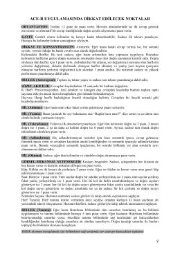 ORYANTASYON (0 – 10 puan)