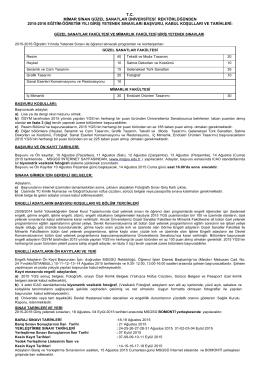 2015-2016 eğitim-öğretim yılı giriş yetenek sınavları basın ilanı