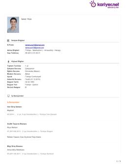 İsmet Yüce İletişim Bilgileri E-Posta : ismetyuce18