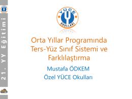 Orta Yıllar Programında Ters-Yüz sınıf sistemi ve Farklılaştırma