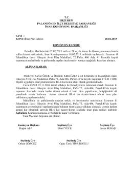 2015 Şubat Ayı Meclis Komisyon Kararları