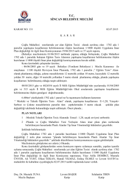 T.C. SİNCAN BELEDİYE MECLİSİ