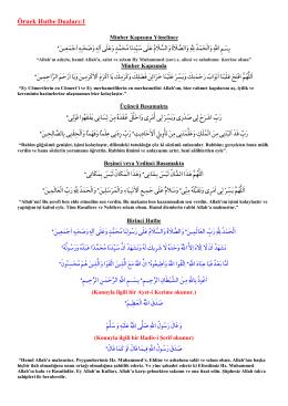 Hutbe Duaları ve Anlamlarını PDF Formatında Aç