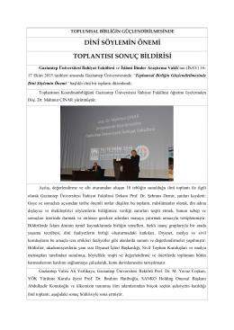 Todplumsal Birliğin Güçlendirilmesinde Dini Söylemin Önemi