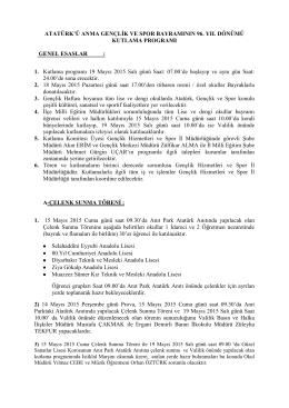 Program - Diyarbakır İl Milli Eğitim Müdürlüğü