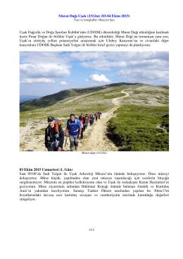 Murat Dağı-Uşak  (03-04 Ekim 2015) Uşak