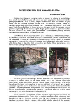 safranbolu`da çamaşırlıklar