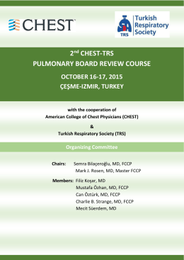 2nd CHEST-TRS PULMONARY BOARD REVIEW COURSE