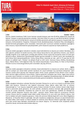 PRAG(3) VİYANA(2) BUDAPEŞTE(2)