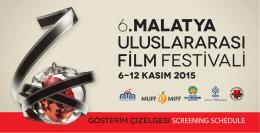 gösterim çizelgesi 2015.indd - Malatya Uluslararası Film Festivali