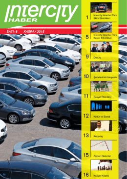 6 kasım / 2015 - INTERCITY Rent a Car