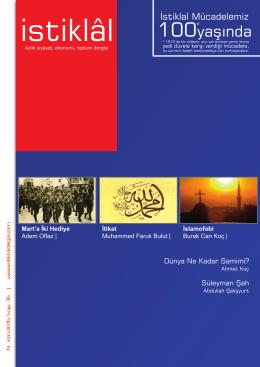 İstiklal Dergisi | NİSAN