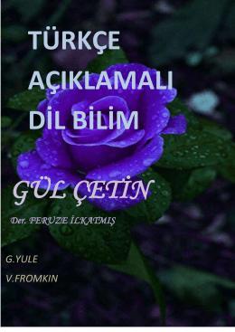 türkçe açıklamalı dilbilim notları