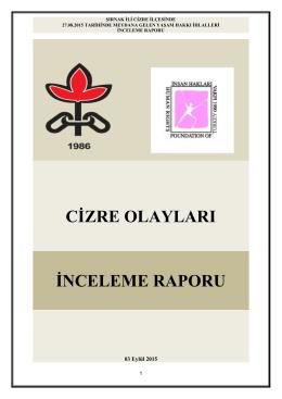 cġzre olayları ġnceleme raporu