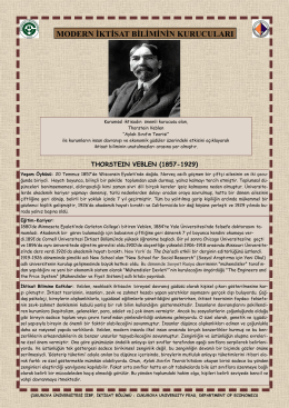 Thorstein Veblen - CU Department of Economics
