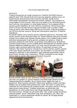 Italya Dolomitiler 2015 Gezi Notlari